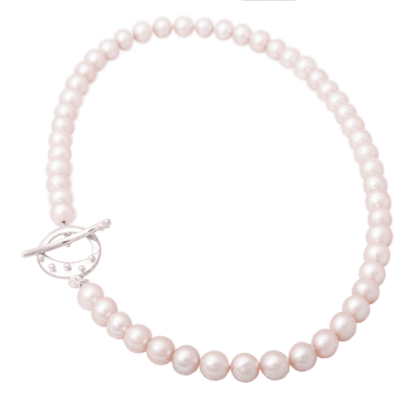 Cloicin clasp on freshwater pearls - full image