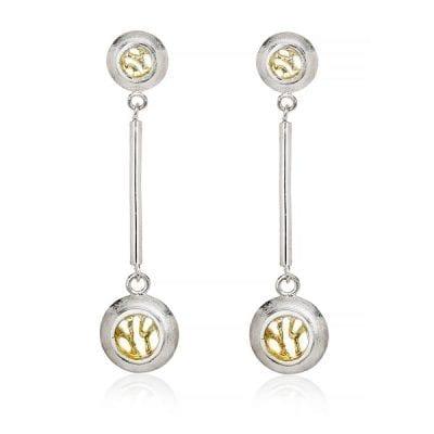 Garrett Mallon Woven-Drop-stud-earrings