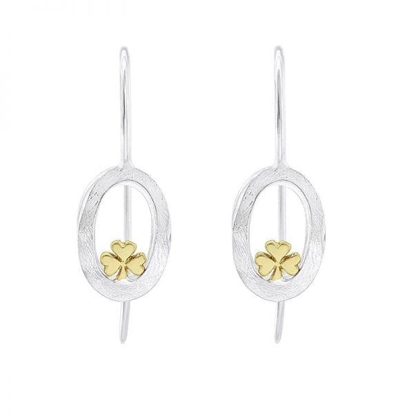 Embrace Shamrock Drop earrings on wire