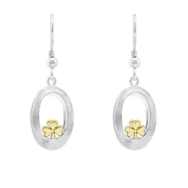 Embrace Shamrock drop earrings